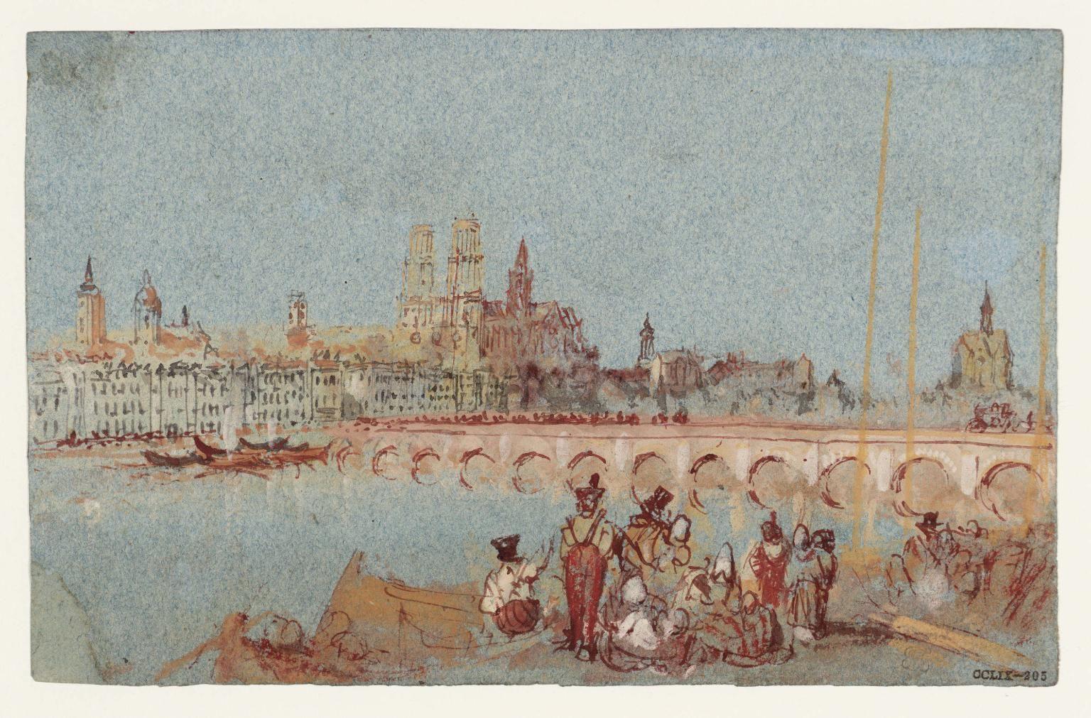 Joseph Mallord William Turner, 'Orléans, Loire Valley' c.1826–8