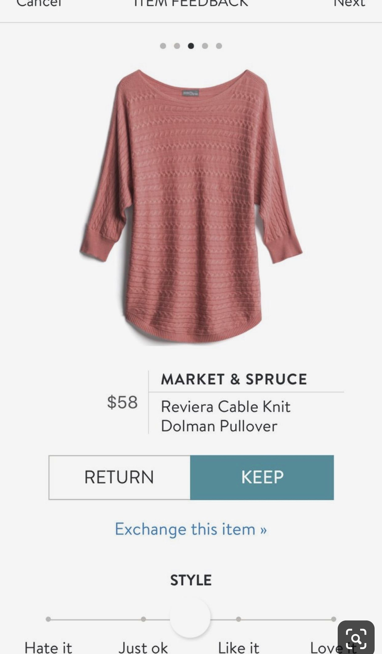 Stitch Fix Market & Spruce Reviera Cable Knit Dolman Pullover || Stitch Fix Sweater #stitchfix #stitchfixinfluencer #stitchfix