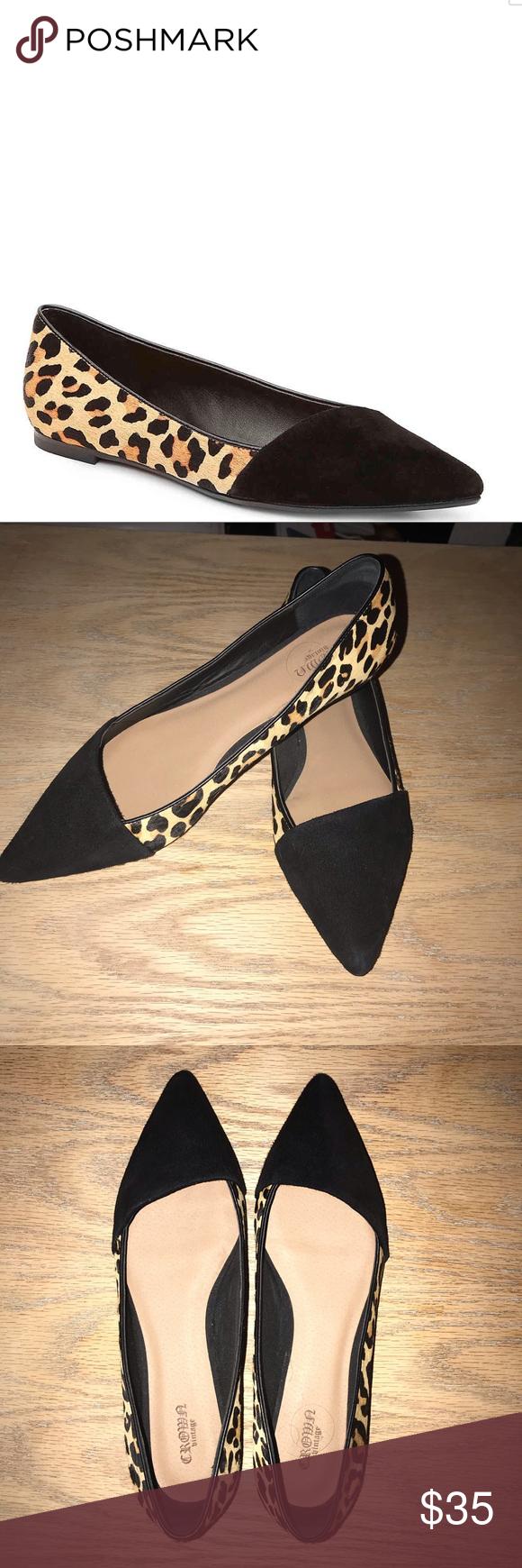 NWOT Crown Vintage Leopard Pointed