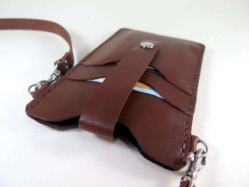 Personalised Leather Bag Adjustable Cross Body Bag Hand Stitched Bag within Minimalist Card Holder For Men Wallet Detachable Straps