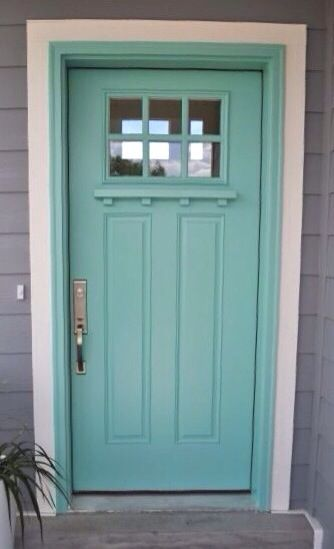 What Are The Best Paint Colours for a Front Door? Façade maison - Oeil De Porte D Entree