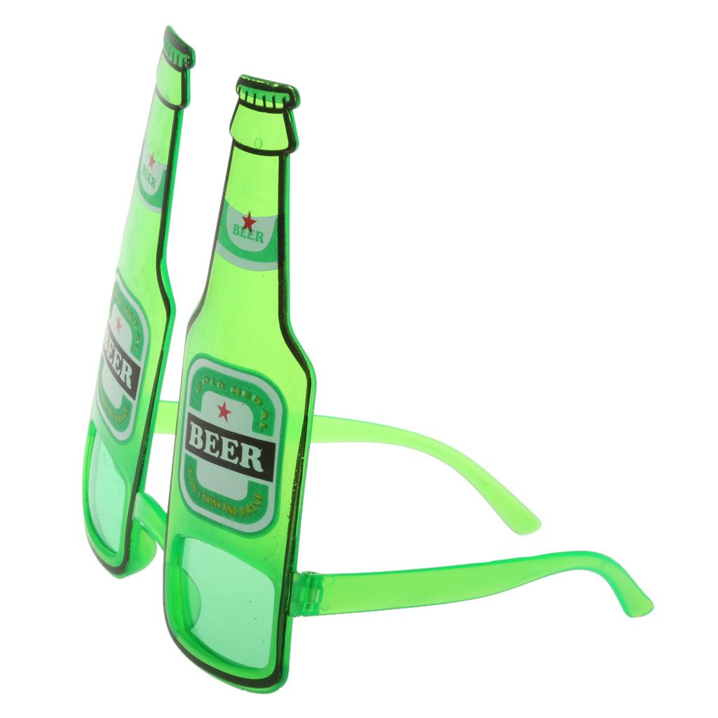 Novelty Festival Beer Goggles Green Sunglasses Stag Night Hen Party Shades