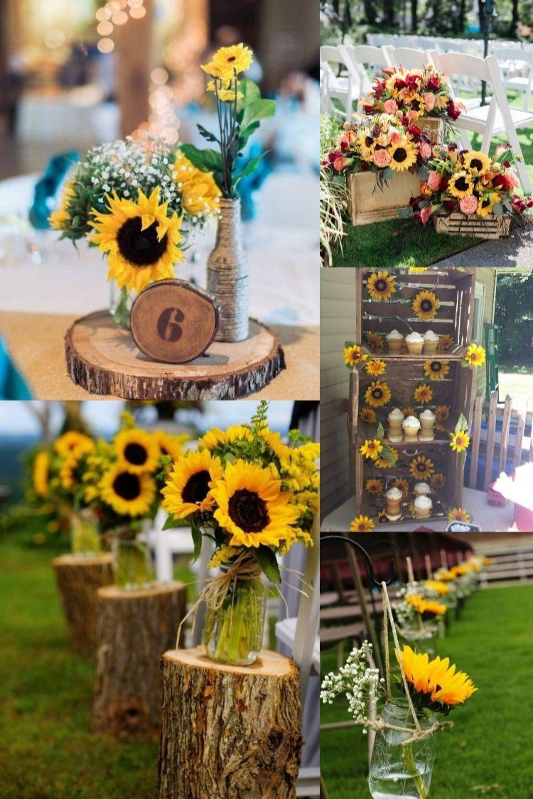 40 Sunflower Wedding Ideas for a Rustic Summer Wedding in