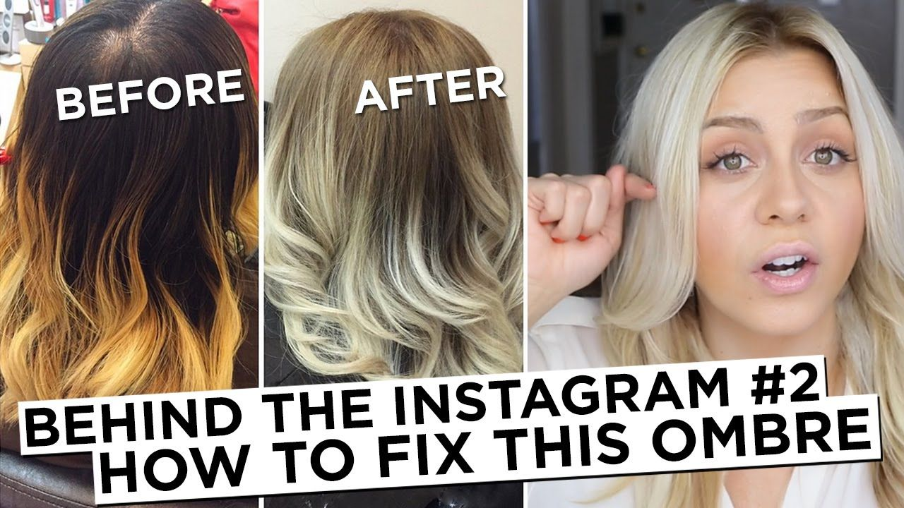 Behind The Instagram 2 How To Fix Brassy Blonde Ombre Hair