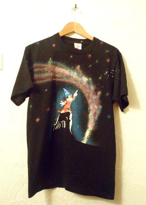 Vintage Disney Fantasia Tshirt 80s 90s Grunge Galaxy Mickey Vintage Disney Fantasia Disney T Shirt