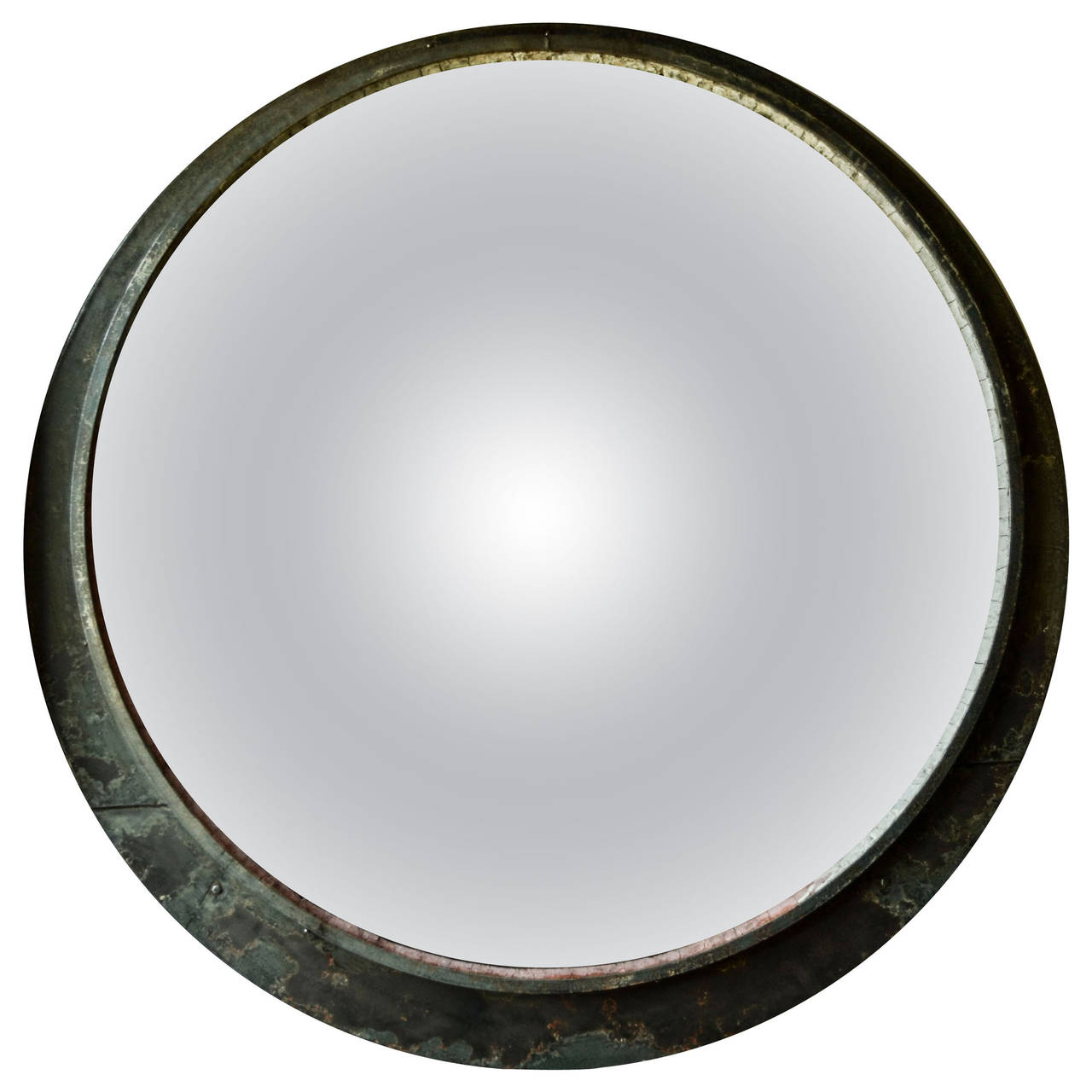 Round Train Mirror | See more antique and modern Wall Mirrors at https://www.1stdibs.com/furniture/mirrors/wall-mirrors