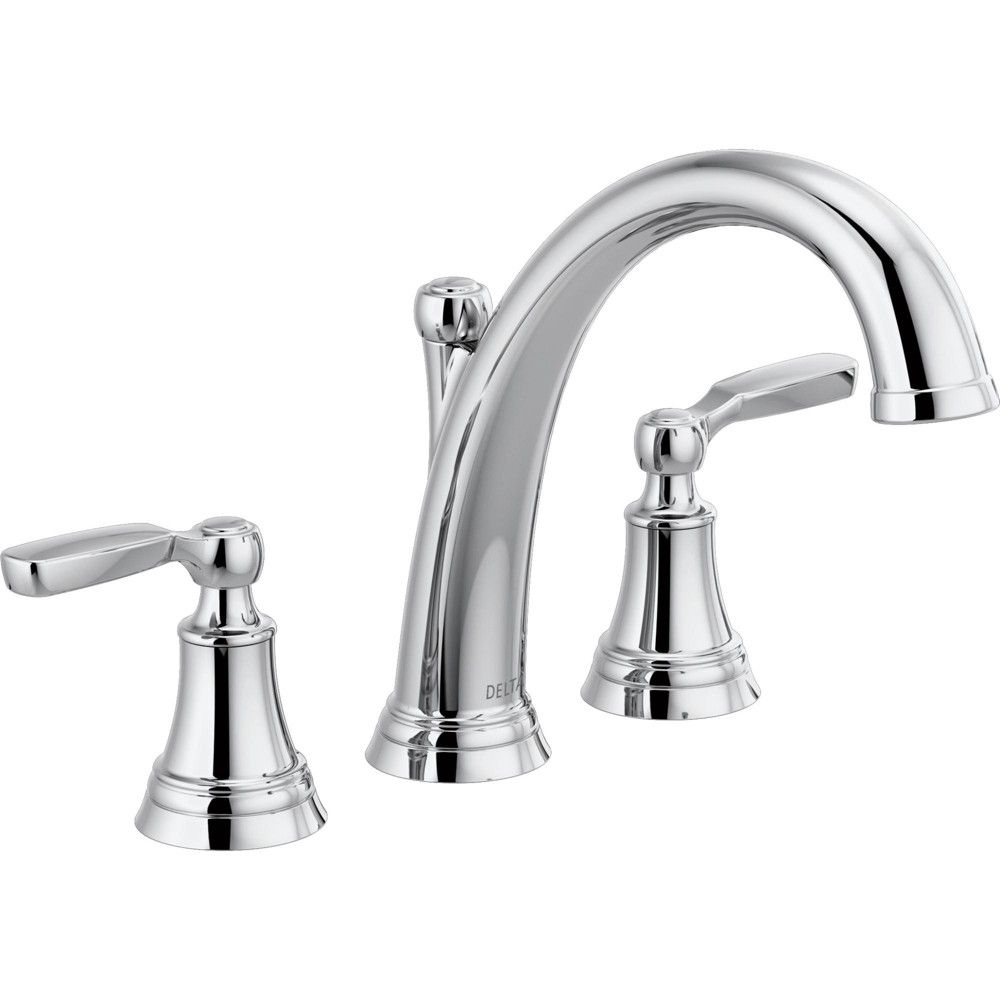 Delta Faucet T2732 Woodhurst Widespread Deck Mounted Roman Tub