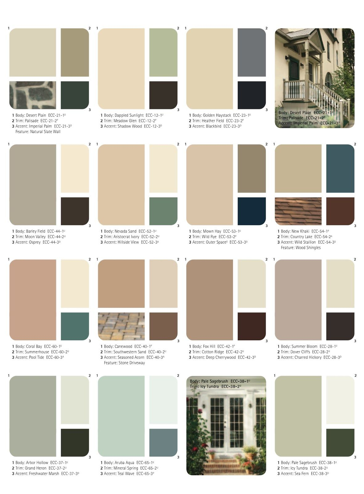 Set Of Beautiful Natural Colors Ange 39 S Dollhouse Choosing The Exterior Color Scheme Color