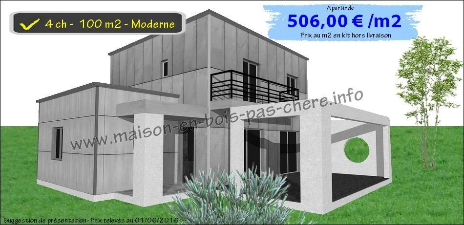 Plan Maison Bois 4 Chambres Bureau Garage Plan Maison Bois Maison Bois Maison En Bois Moderne