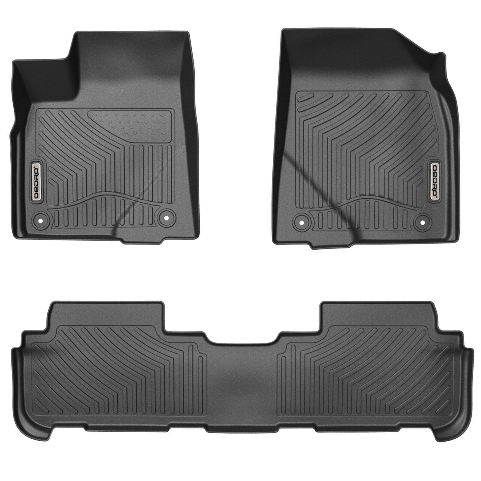 Oedro Floor Mats Compatible For 2014 2019 Toyota Highlander Unique Tpe Liners In 2020 2019 Ford Explorer Toyota Tacoma Double Cab Rubber Floor Mats