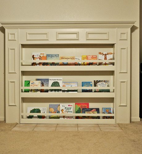 Bookcase to hide the fireplace Brilliant Indoor Inspiration