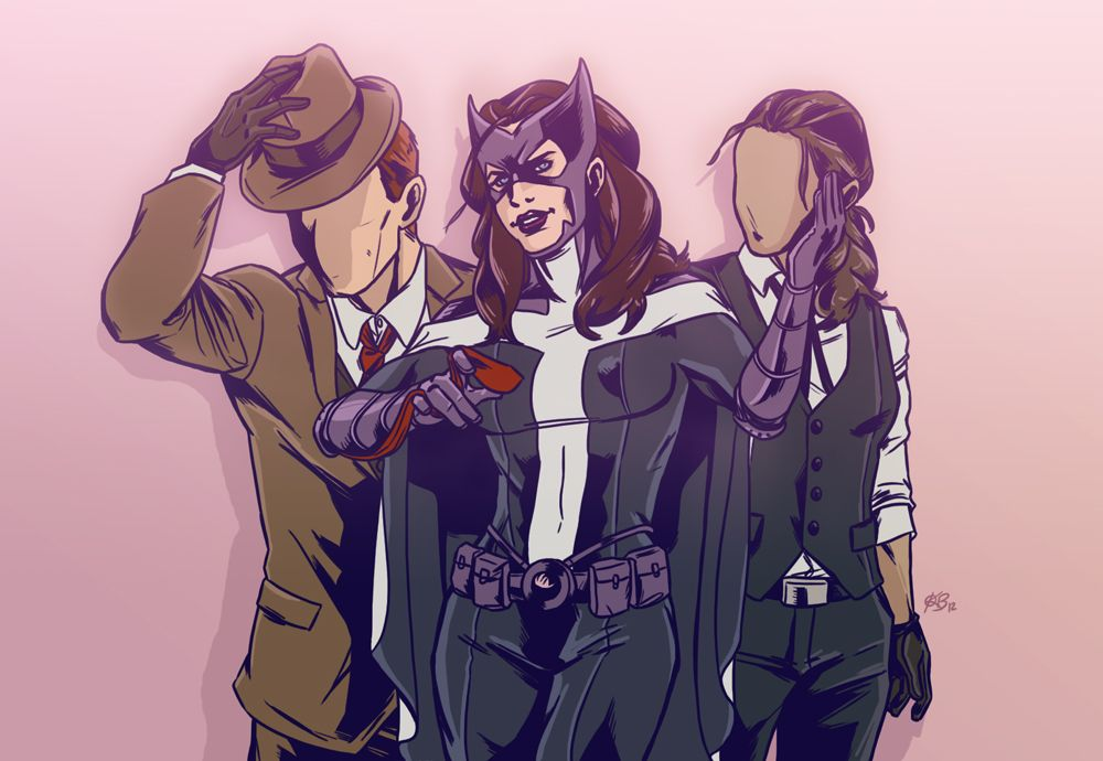 January 2012. Huntress (Helena Bertinelli) and The Question's (Vic Sage and Renee Montoya) of DC Comics. So I was thinking about how awesome a Question book with both Charlie and Renee would be. An...