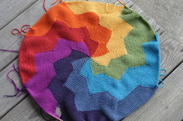 rainbow circular knitting - oh wow! I want to do this!!