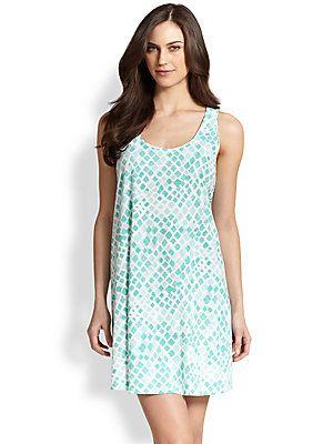 b4cd9d29cd Cottonista Printed Cotton Jersey Short Trapeze Gown  br  Algodón Estampado