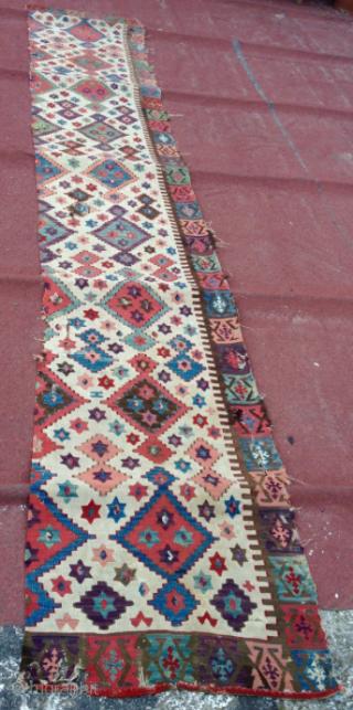 18th c. Anatolian Kilim 73x450 cm