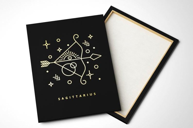 Sagittarius Canvas Print Large Constellation Poster Etsy Constellation Wall Art Constellation Poster Canvas Prints