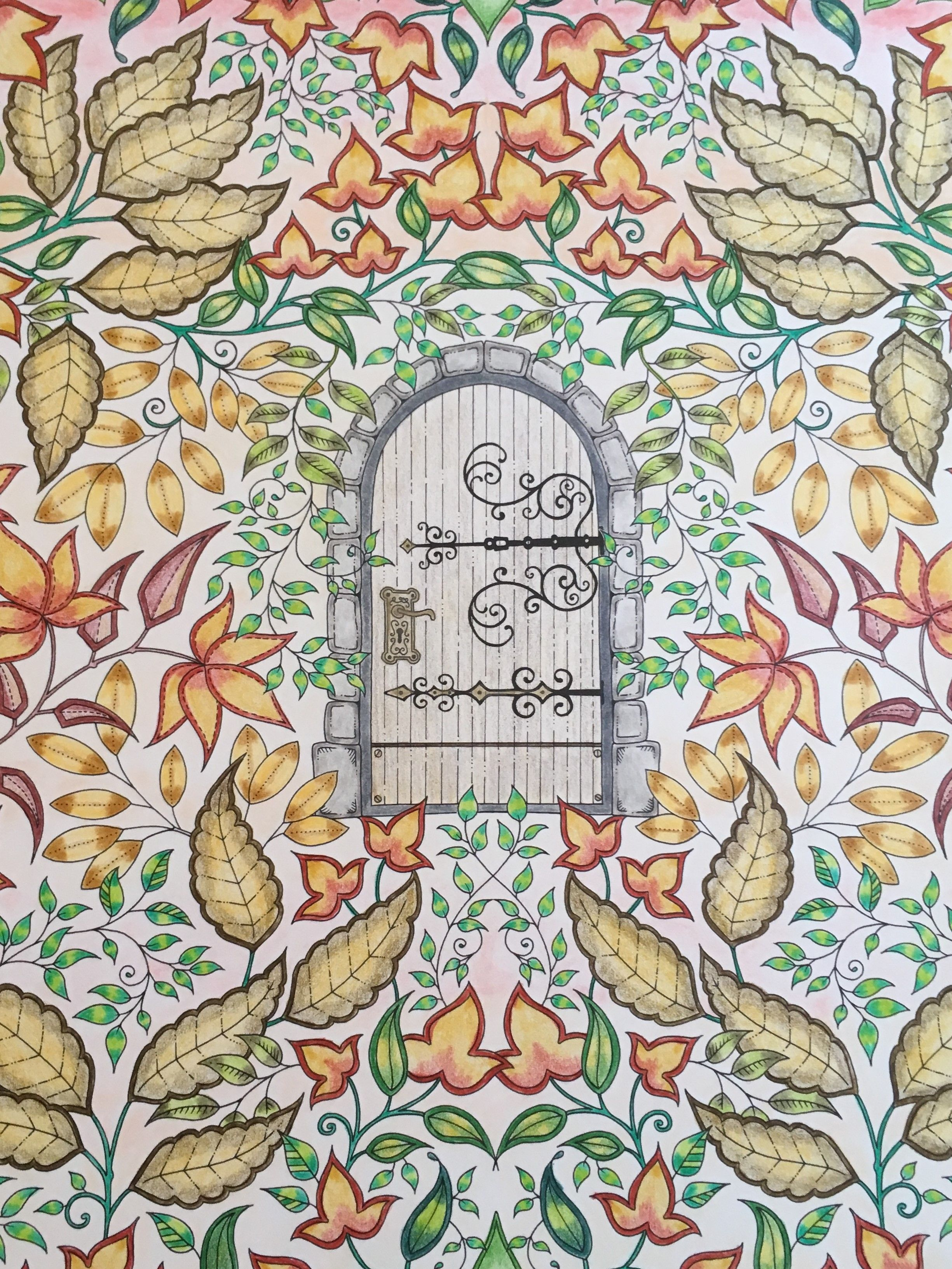 Coloured By Me From Johanna Basford S Secret Garden Artist S Edition Johannabasfor Secret Garden Coloring Book Johanna Basford Secret Garden Basford Coloring