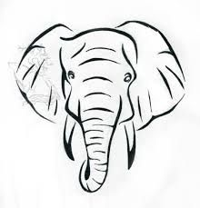 Image Result For Elephant Face Drawing Elephant Head Tattoo Elephant Face Drawing Elephant Tattoos