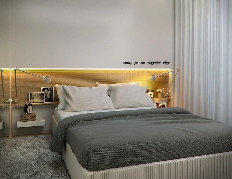 Indirekte Beleuchtung Led Kleines Schlafzimmer Wandpaneel
