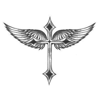 tatouage croix avec ailes inspirations tatouage. Black Bedroom Furniture Sets. Home Design Ideas
