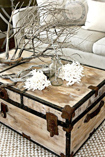 Painted Trunk By Salvag Dior   Who The Hell Puts A Tree Branch In Their  Livingroom As A Statement Piece?