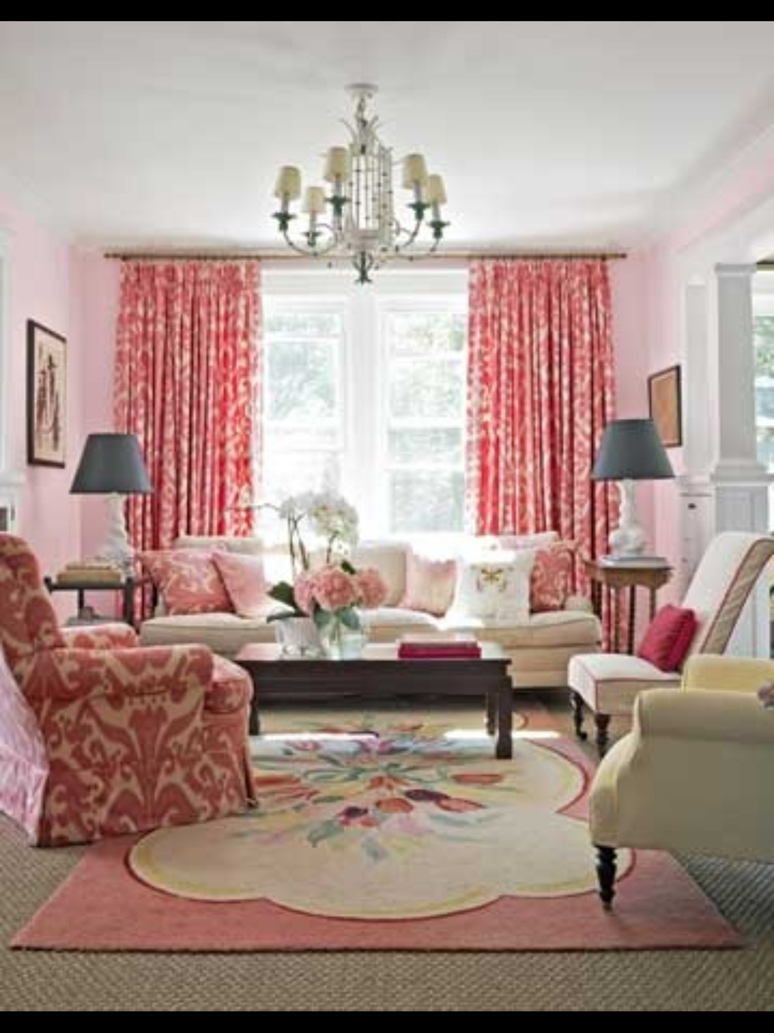 Pink Living Room Design: Pink, Happy, And Feminine