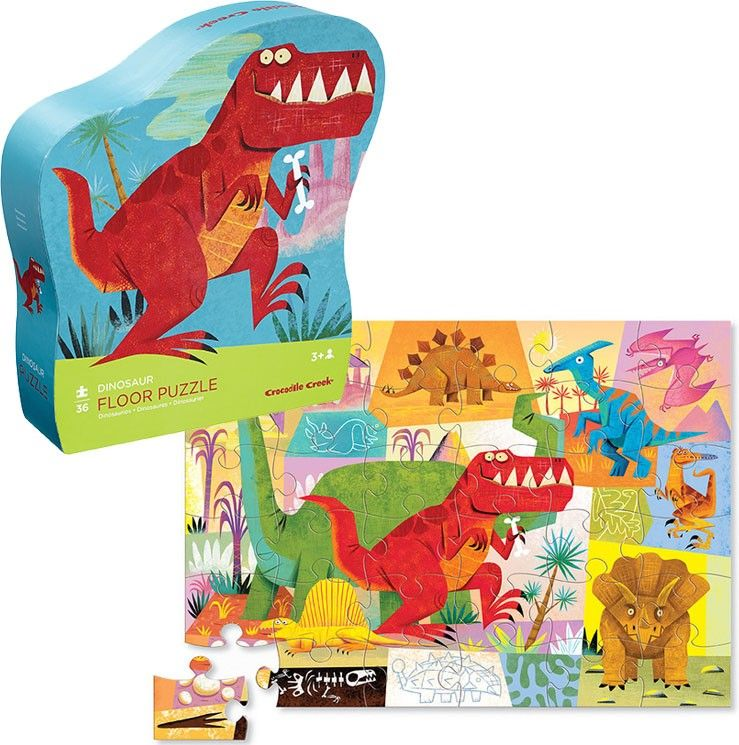 Dinosaur 36 Pc Floor Puzzle In Shaped Box Educational Toys Planet Dinosaur Educational Toys Creative Toy