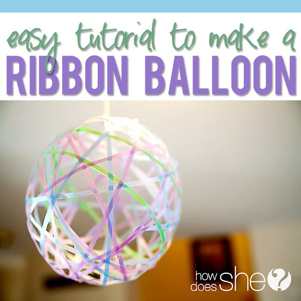 Make Your Own Ribbon Balloon Decorations Spring time Tutorials