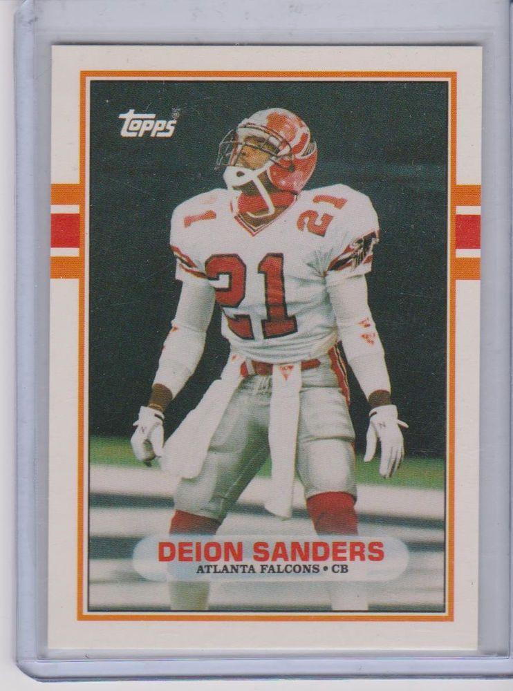 1989 topps football deion sanders rookie card rc atlanta