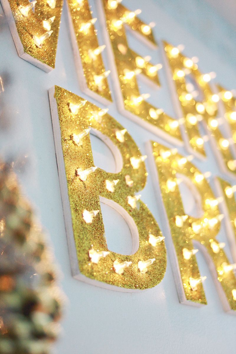Christmas Light Up Marquee DIY Diy marquee letters