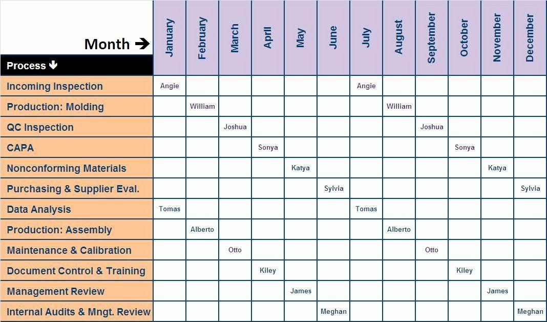 30 internal audit plan template in 2020 schedule