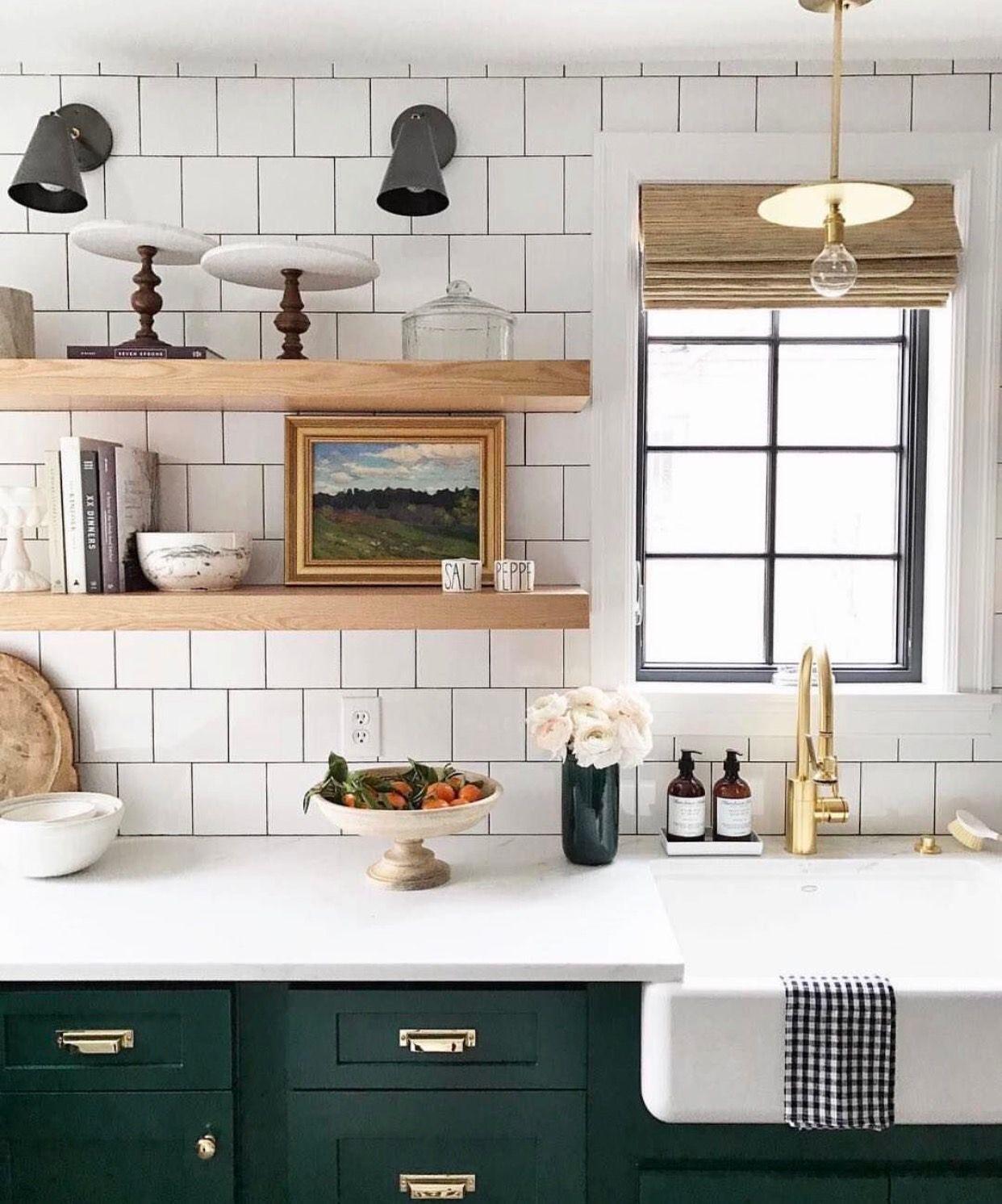 Mutfakta açık raf tasarım fikirleri