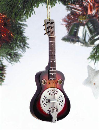Spider Resonator Guitar Music Instrument Replica Christmas Ornament ...