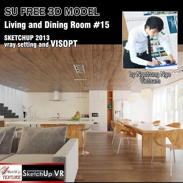 SKETCHUP TEXTURE: FREE SKETCHUP 3D MODEL LIVING ROOM#15 | SketchUp ...