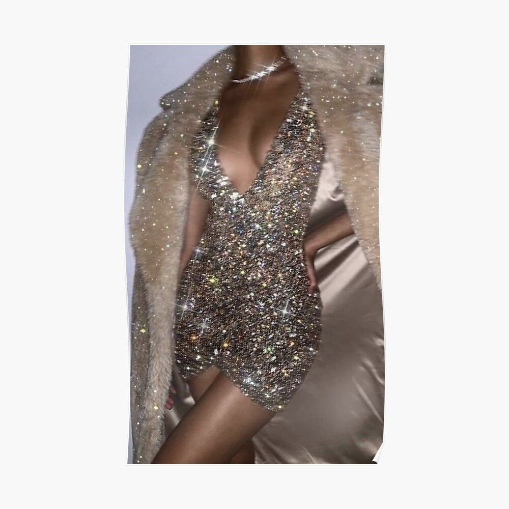 vintage fashion sparkly Poster