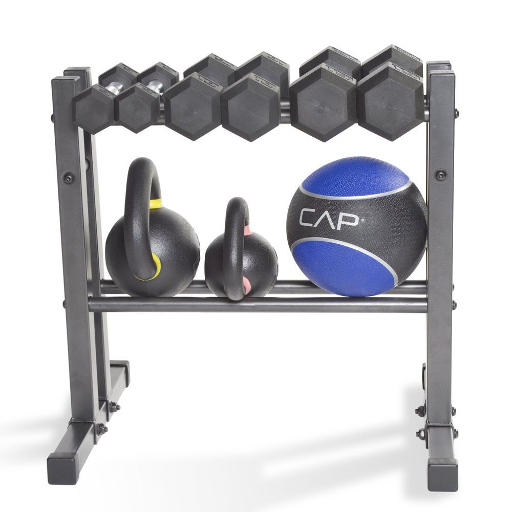 Dumbbell Rack Holder Free Weight Storage Plate Stand Set Bench