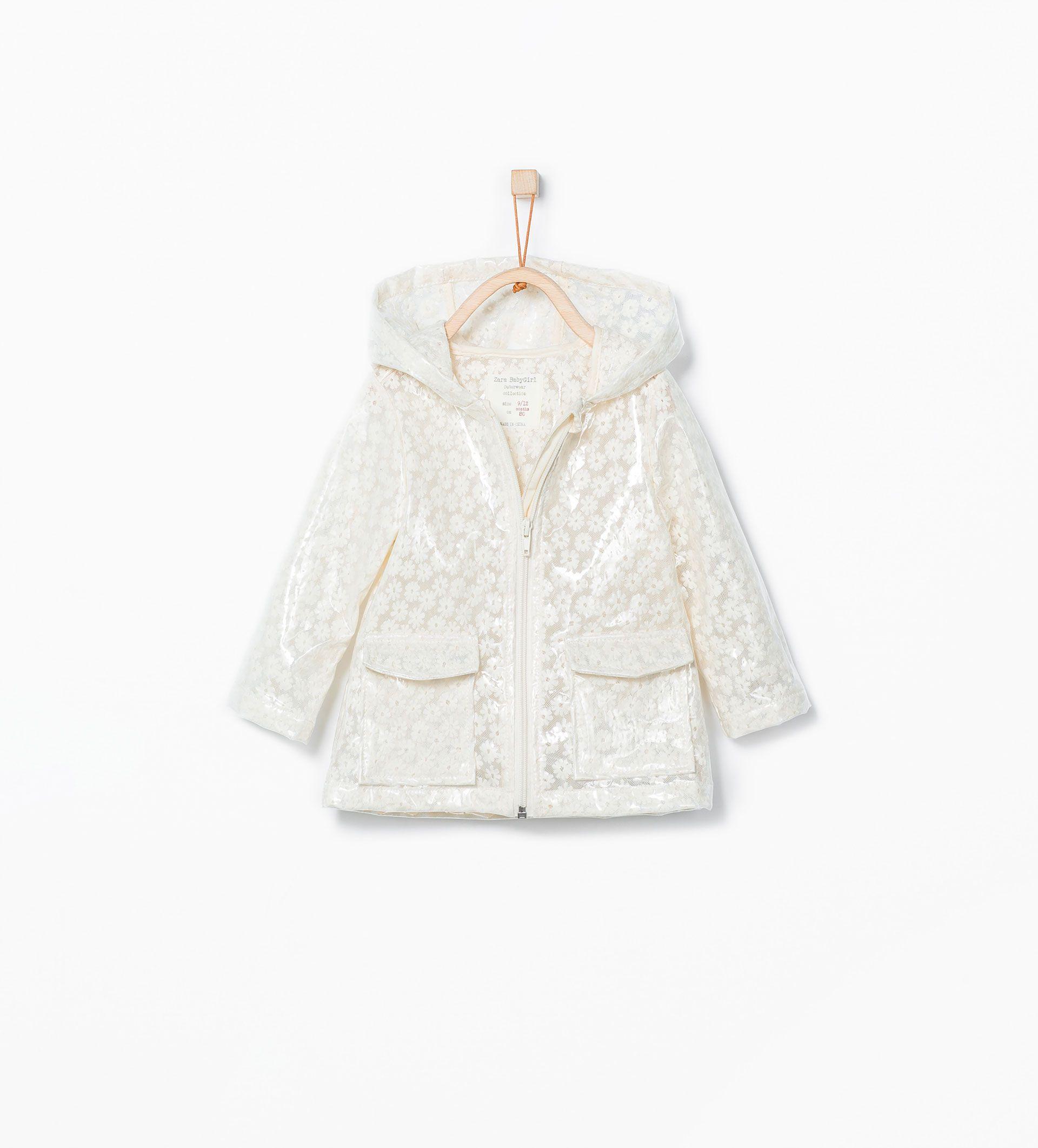 Transparente floral raincoat - Jackets - Baby girl (3 months - 3 years) - KIDS | ZARA Serbia
