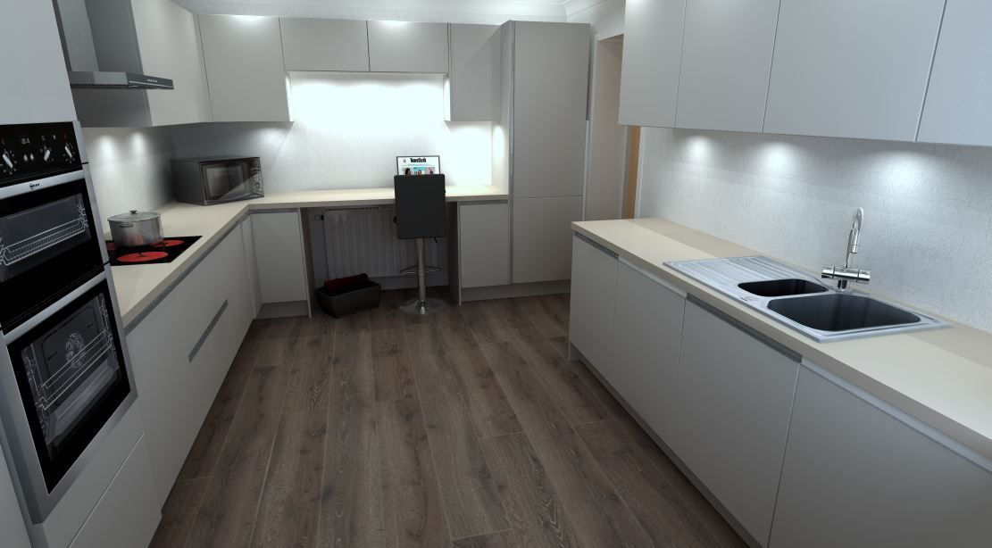 Miraculous Laser Soft Taupe Handle Less Kitchen With Stone Structure Spiritservingveterans Wood Chair Design Ideas Spiritservingveteransorg