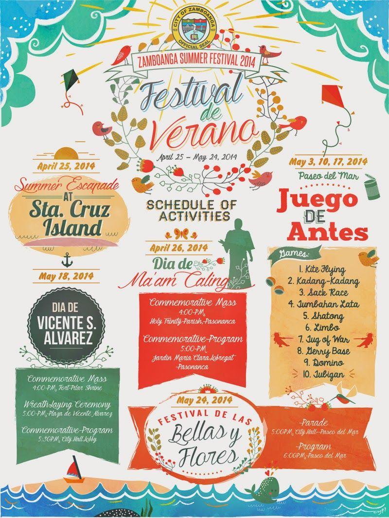 Poster design program - Festival De Verano 2014 Zamboanga Summer Festival Poster Design By Csz97