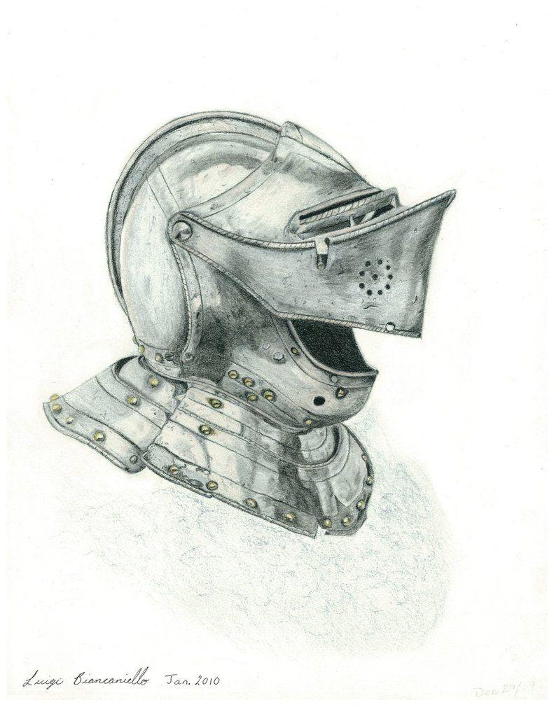 Medieval Helmet Drawing : medieval, helmet, drawing, Оружие