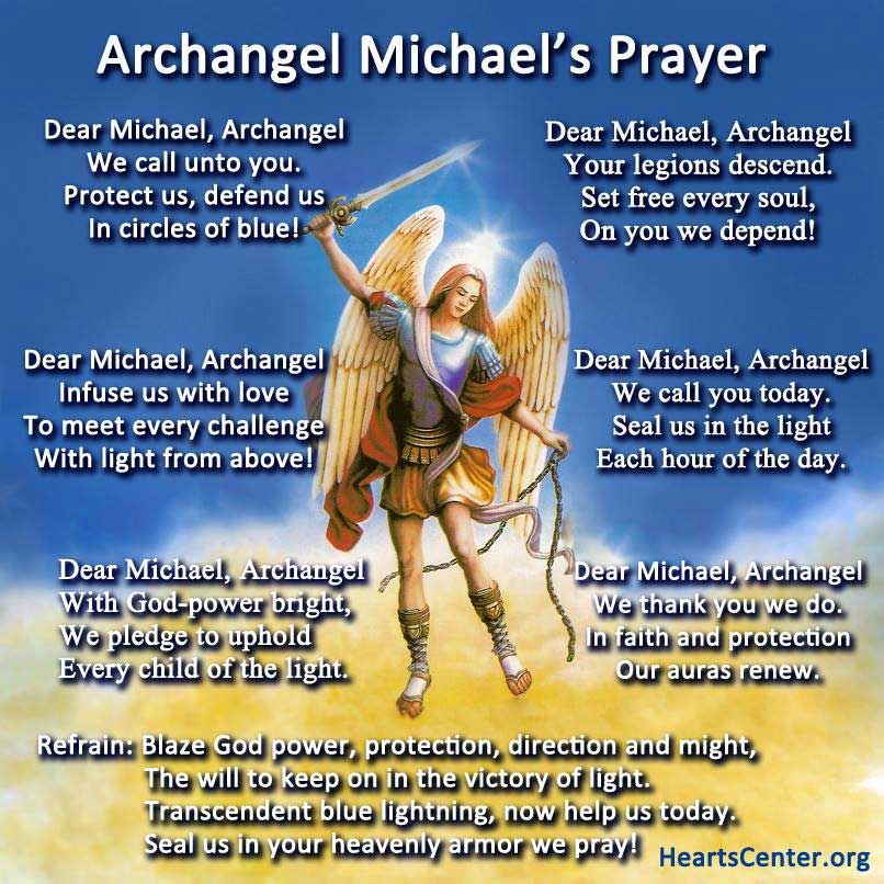 Free Archangel Michael Prayer Poster | Archangel Michael