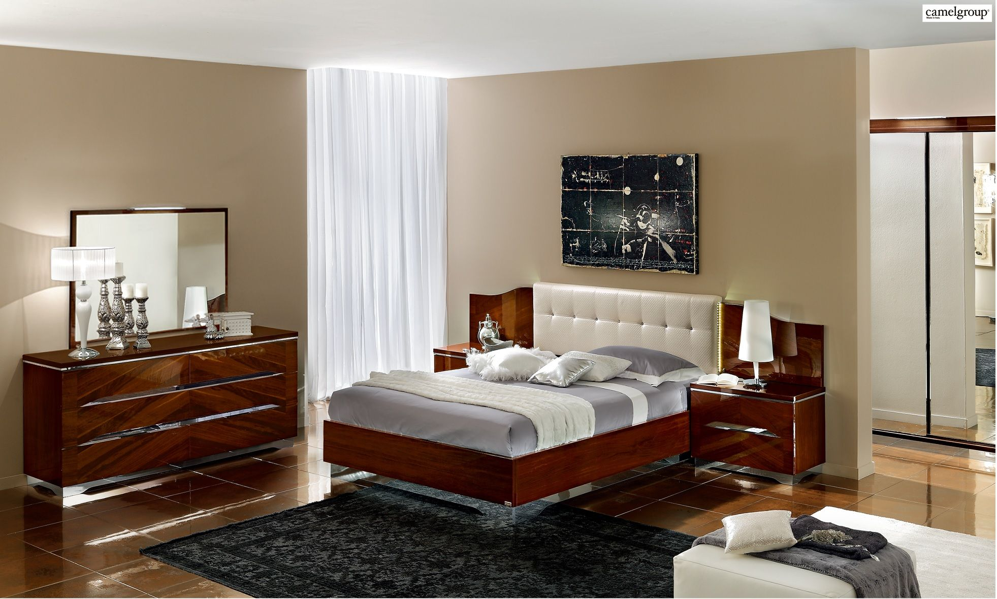 Matrix bedroom set in brown by camelgroup made in italy products