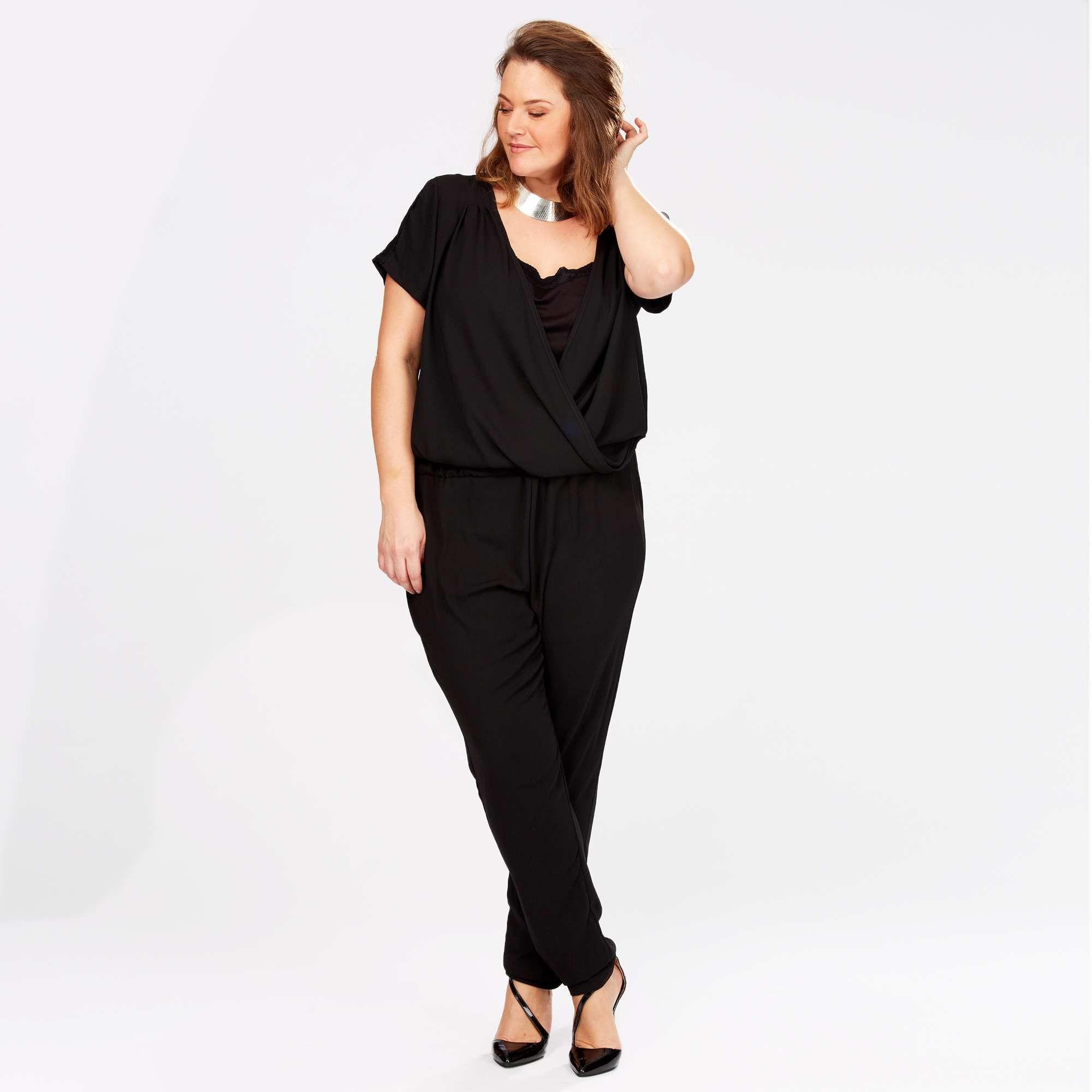 2a68896f Mono con encaje negro Tallas grandes … | clothes | Talla…