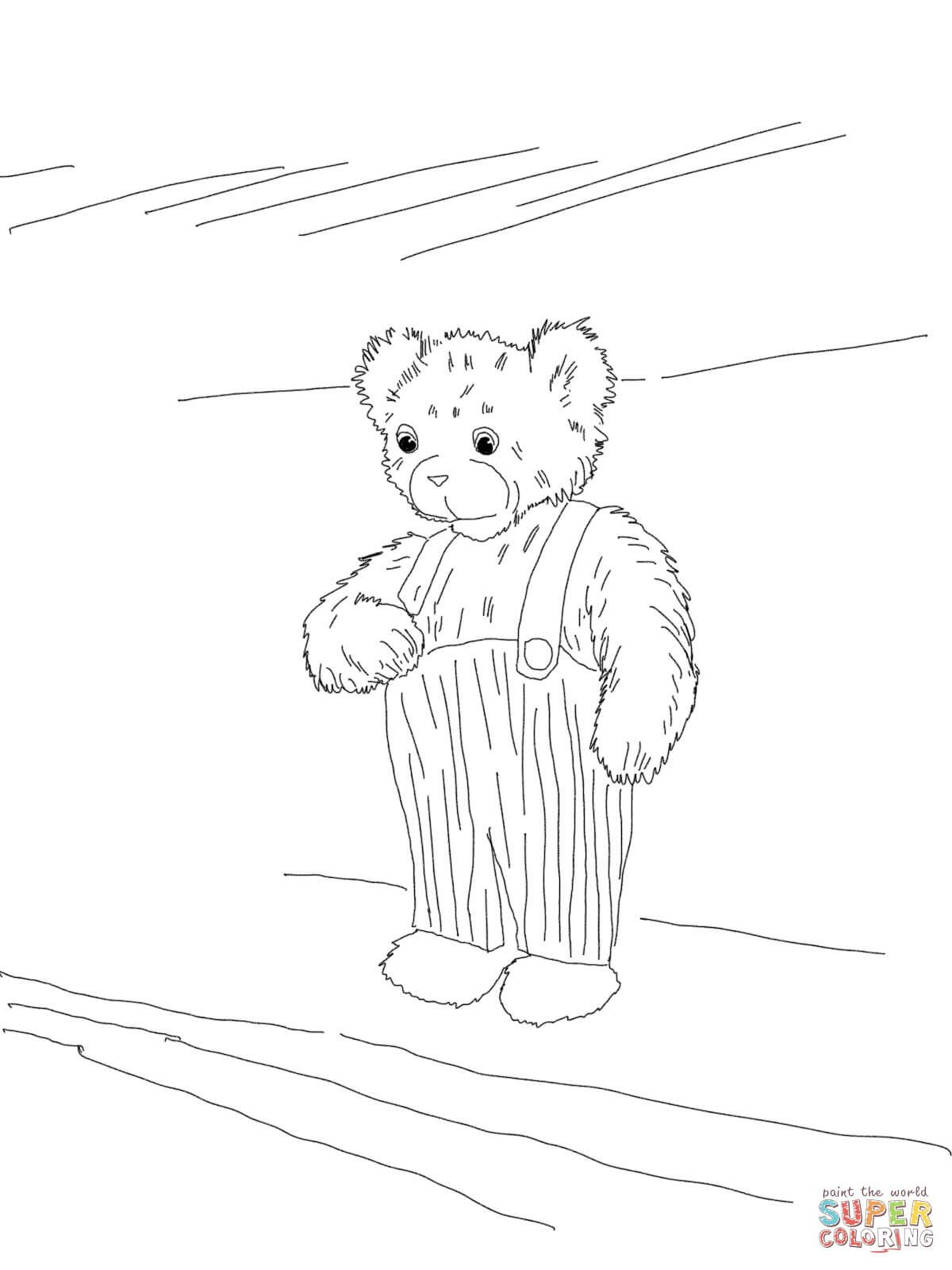 Corduroy Bear Coloring Page From Corduroy Category Select