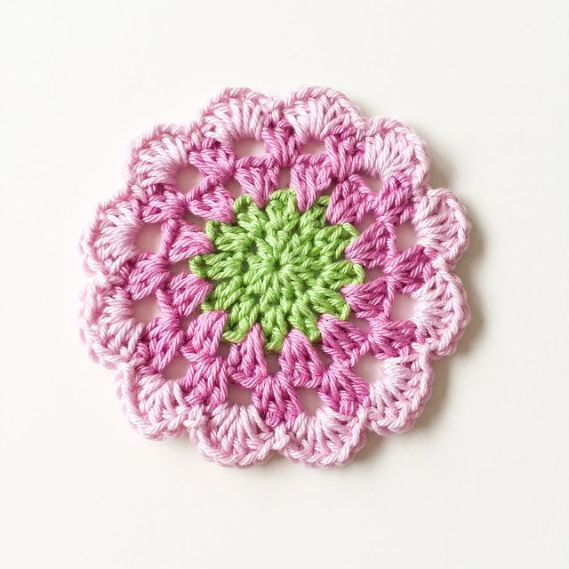 Photo of A crochet pattern for spring delicate flower coasters A crochet pattern for spri…