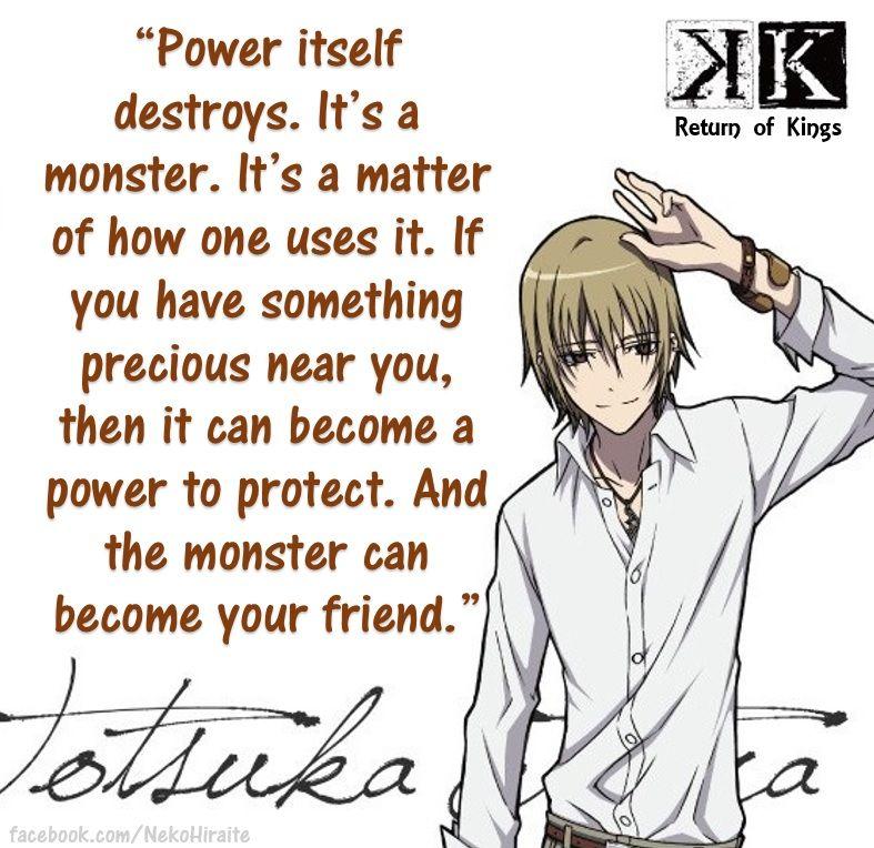 Totsuka Tatara of K Return of Kings K project anime, K