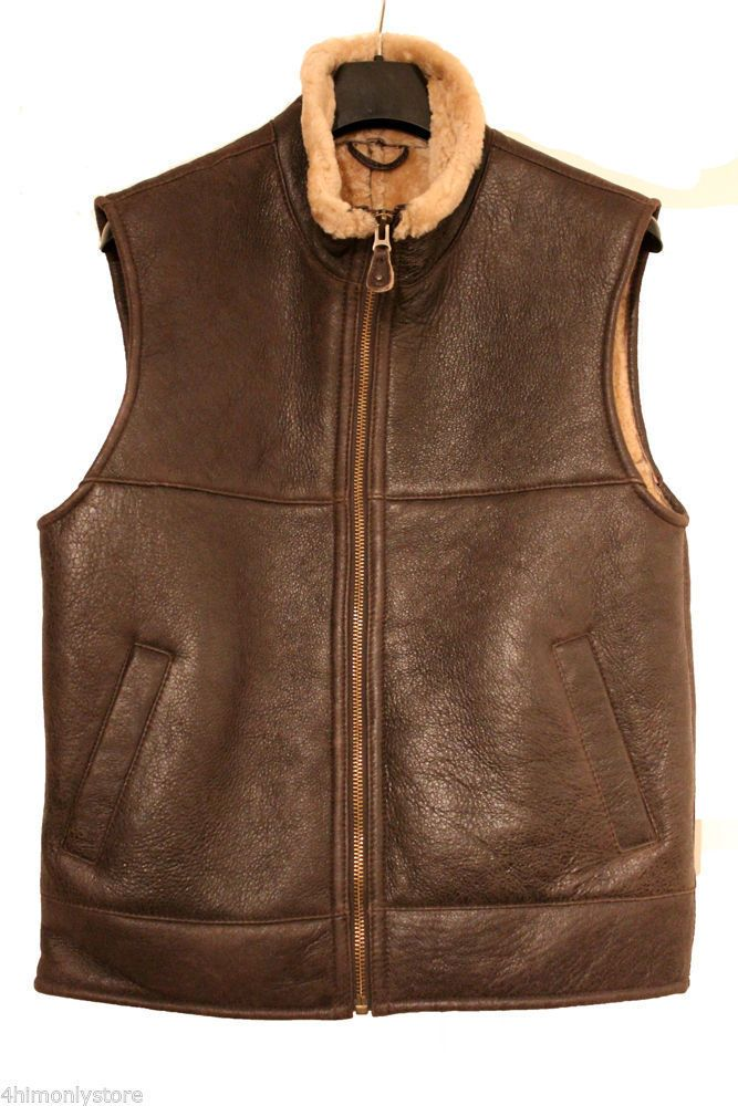 Men S Aviator B3 Ginger Shearling Sheepskin Gilet Leather Bomber Flying Jacket Arkham Jackets Leather Bomber Mens Aviators Flying Jacket