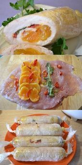 Photo of Chicken sausages rolls with dried apricots. Delicious- Chick…
