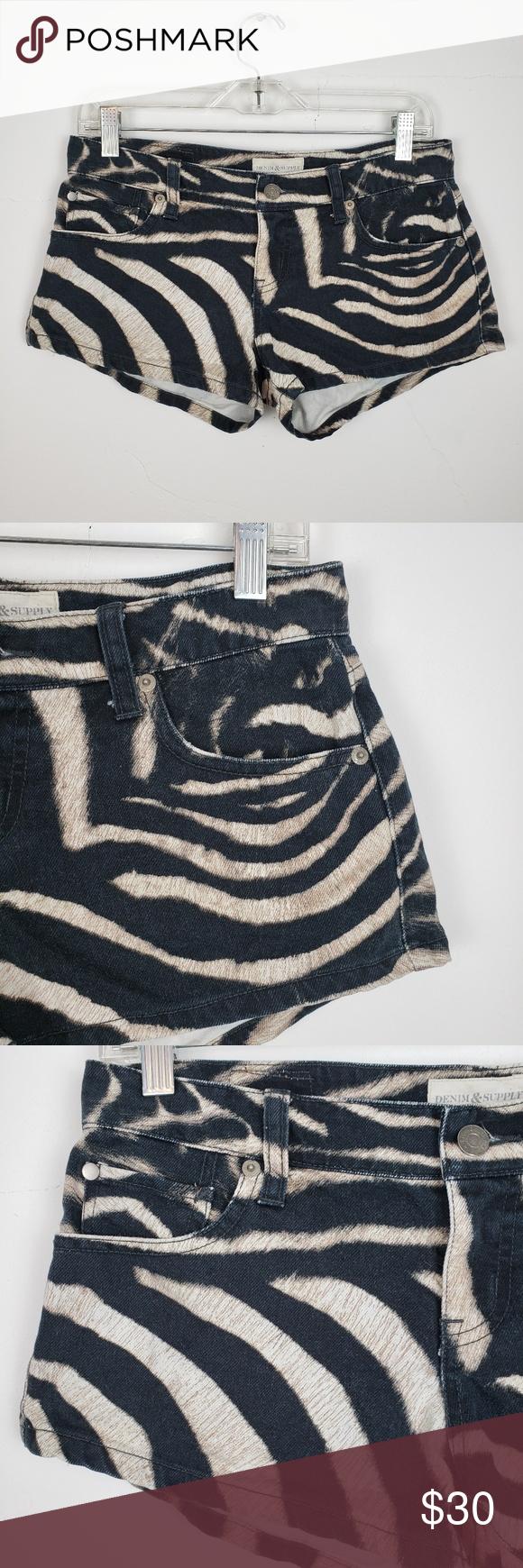 Denim & Supply Ralph Lauren Animal Print Shorts Denim & Supply Ralph Lauren Animal Print Shorts Size...