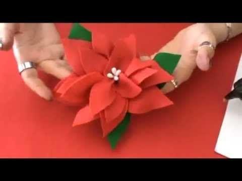 Come Costruire Una Stella Di Natale.Come Fare Una Stella Di Natale Di Carta Youtube Natale Felt